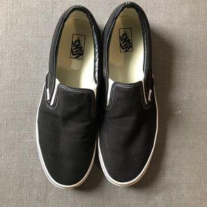 Vans Black Slip ons Slipons Size 15